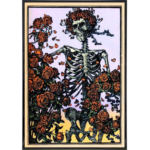 Skeleton with Roses Illustration Print