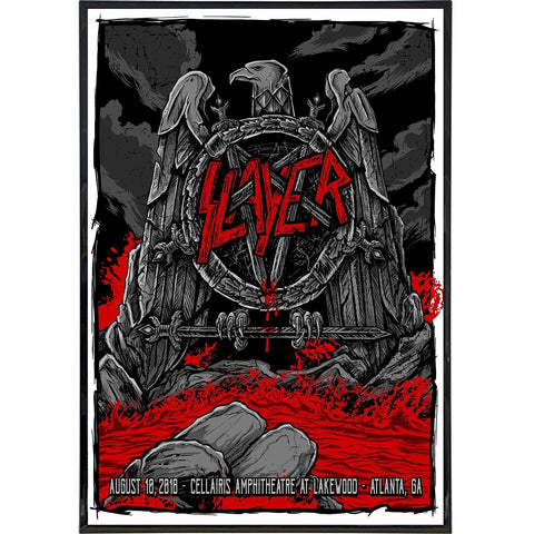Slayer Show Poster Print - Shady Front / Wholesale Prints, Patches, Buttons, Greetings Cards, New Jersey Apparel, Stickers, Accessories