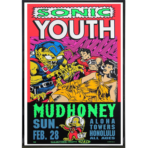 Sonic Youth and Mudhoney Poster Print - Shady Front / Wholesale Prints, Patches, Buttons, Greetings Cards, New Jersey Apparel, Stickers, Accessories