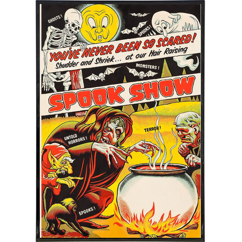 Vintage Spook Show Poster Print - Shady Front / Wholesale Prints, Patches, Buttons, Greetings Cards, New Jersey Apparel, Stickers, Accessories