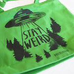 Stay Weird Zippered Bag - Shady Front / Wholesale Prints, Patches, Buttons, Greetings Cards, New Jersey Apparel, Stickers, Accessories