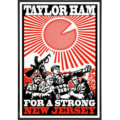 Taylor Ham for a Strong New Jersey Print - Shady Front / Wholesale Prints, Patches, Buttons, Greetings Cards, New Jersey Apparel, Stickers, Accessories