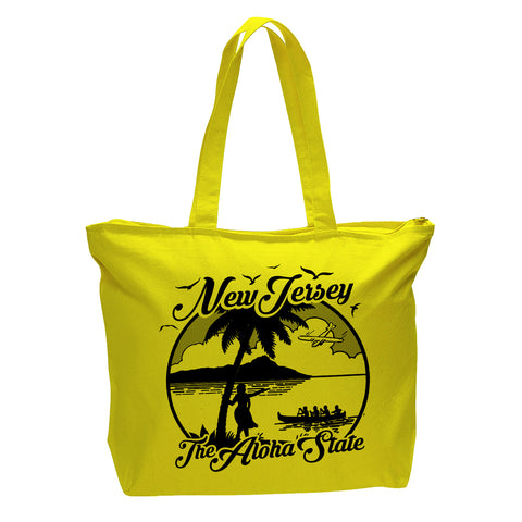 The Aloha State Zippered Bag - Shady Front / Wholesale Prints, Patches, Buttons, Greetings Cards, New Jersey Apparel, Stickers, Accessories