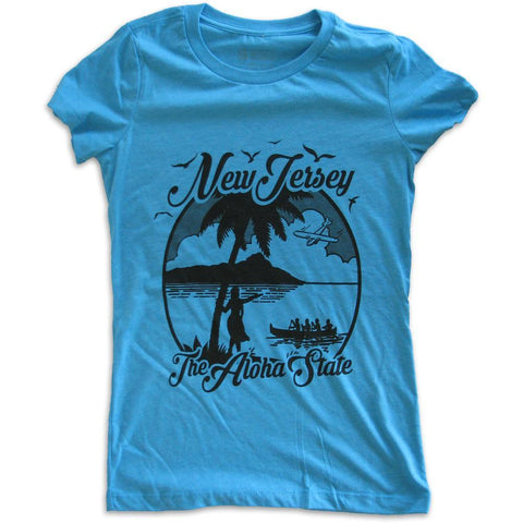 The Aloha State Girls Shirt - Shady Front / Wholesale Prints, Patches, Buttons, Greetings Cards, New Jersey Apparel, Stickers, Accessories