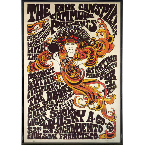 "The Doors ""Whiskey a Go Go"" 1967 Show Poster Print"