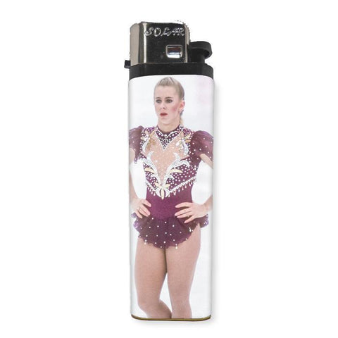 Tonya Harding Lighter - Shady Front / Wholesale Prints, Patches, Buttons, Greetings Cards, New Jersey Apparel, Stickers, Accessories