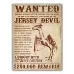 Wanted Jersey Devil Sticker - Shady Front / Wholesale Prints, Patches, Buttons, Greetings Cards, New Jersey Apparel, Stickers, Accessories