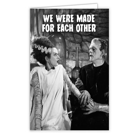 "Frankenstein ""Made for Each Other"" Card - Shady Front / Wholesale Prints, Patches, Buttons, Greetings Cards, New Jersey Apparel, Stickers, Accessories"