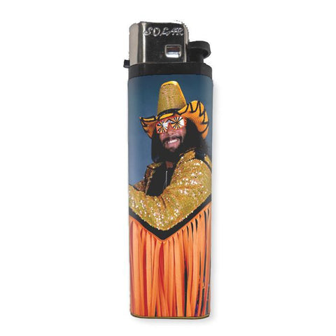 Macho Man Randy Savage Lighter - Shady Front / Wholesale Prints, Patches, Buttons, Greetings Cards, New Jersey Apparel, Stickers, Accessories