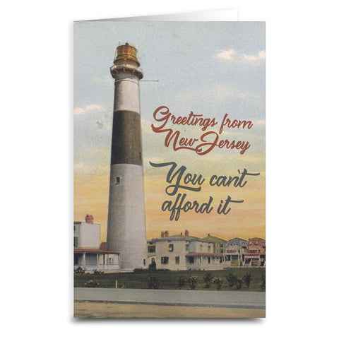 You Can't Afford It Card - Shady Front / Wholesale Prints, Patches, Buttons, Greetings Cards, New Jersey Apparel, Stickers, Accessories