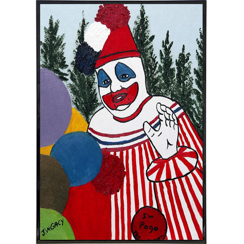 "John Wayne Gacy ""Pogo"" Painting Print - Shady Front / Wholesale Prints, Patches, Buttons, Greetings Cards, New Jersey Apparel, Stickers, Accessories"