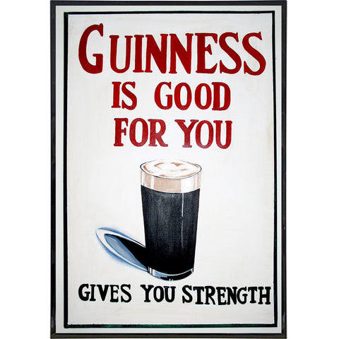 Guinness Gives You Strength Ad Print - Shady Front / Wholesale Prints, Patches, Buttons, Greetings Cards, New Jersey Apparel, Stickers, Accessories