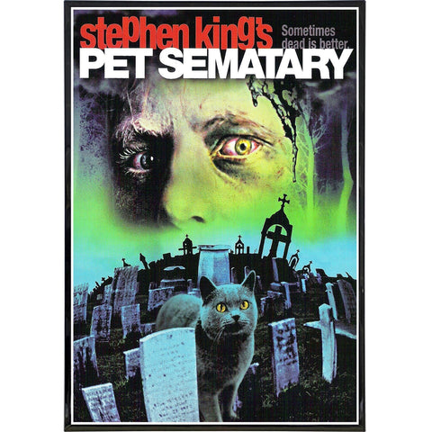 Pet Sematary Film Poster Print - Shady Front / Wholesale Prints, Patches, Buttons, Greetings Cards, New Jersey Apparel, Stickers, Accessories