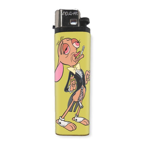 "Ren ""Ren and Stimpy"" Lighter - Shady Front / Wholesale Prints, Patches, Buttons, Greetings Cards, New Jersey Apparel, Stickers, Accessories"