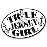 True Jersey Girl Sticker - Shady Front / Wholesale Prints, Patches, Buttons, Greetings Cards, New Jersey Apparel, Stickers, Accessories