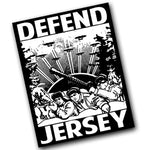 Defend Jersey Sticker - Shady Front / Wholesale Prints, Patches, Buttons, Greetings Cards, New Jersey Apparel, Stickers, Accessories