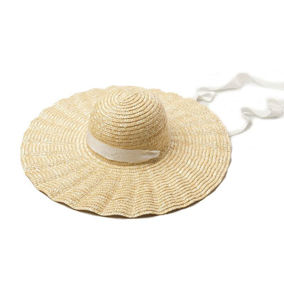 Ridged Straw Sun Hat