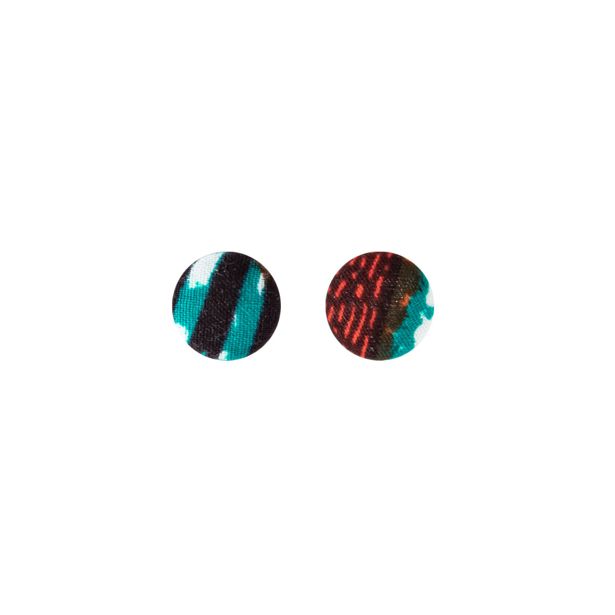 Button Earrings - Medium