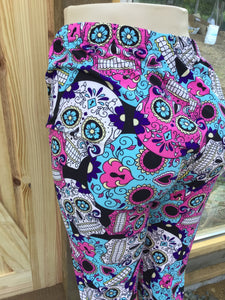 Womens best plus leggings BUTTERY SOFT LEGGINGS Skull Print