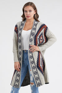Tribal Poncho Cardigan Sweater