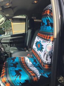 Running Horse print Seat Covers 2pc