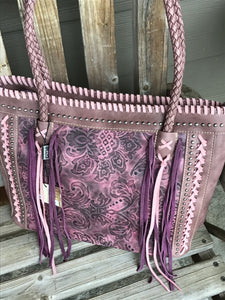 Tooled Collection Tote Embossed vintage floral pattern Montana West handbag