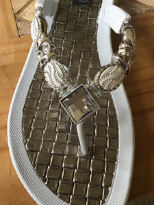 Gorgeous bling sandals with wedge V-thong sandal Faberge Thong Sandal