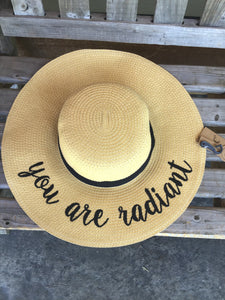 SUN HAT - YOU ARE RADIANT