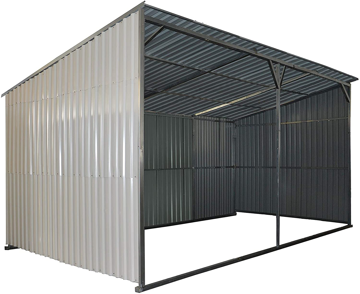 Industrial 12' x 20' All Metal Livestock Shed
