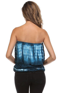 TUBE TOP  tie dye Ombre tank top
