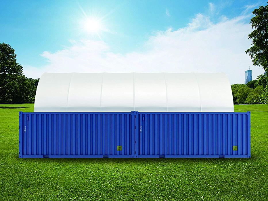 20' x 20' PE Fabric Container Shelter