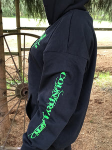 Country girl clothing Country life hoodie Lime real tree deer skull head hunt vintage hoodie