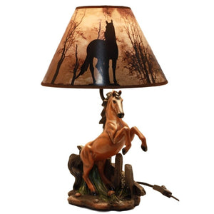 Rearing Horse Lamp Western Home Decor