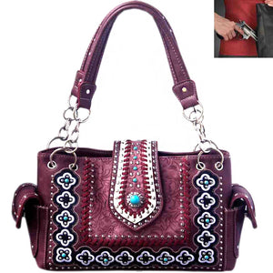 Western Red Purse Buckle Turquoise Jewl  style shoulder bag purse handbag Gorgeous