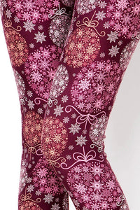 Christmas Womens best leggings BUTTERY SOFT LEGGINGS One Size Print snowflake an ornament  leggings