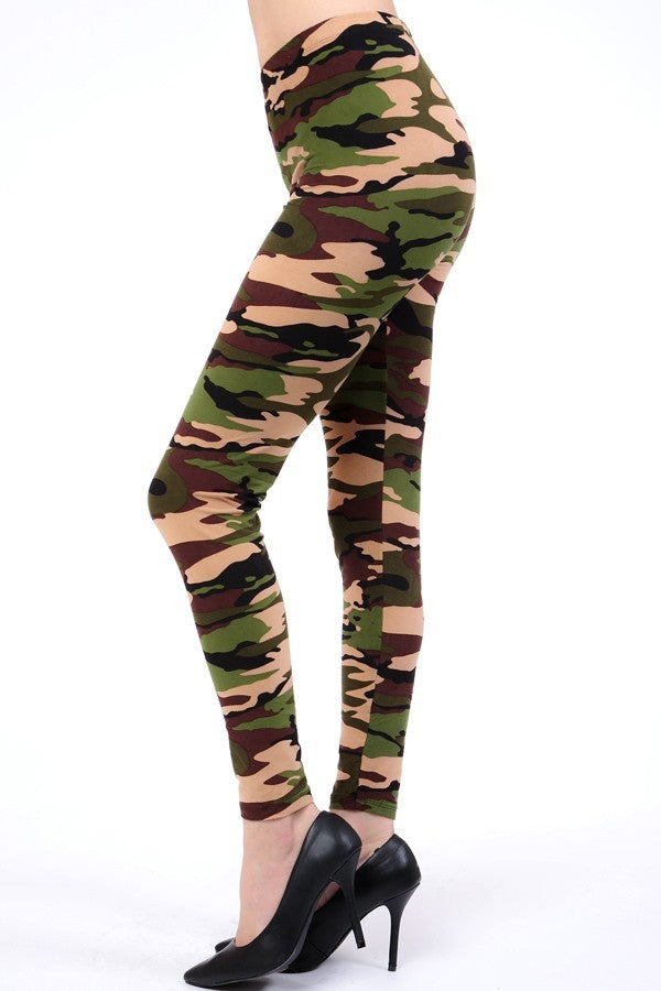 Womens best leggings Camo BUTTERY SOFT LEGGINGS One Size Camouflage Print