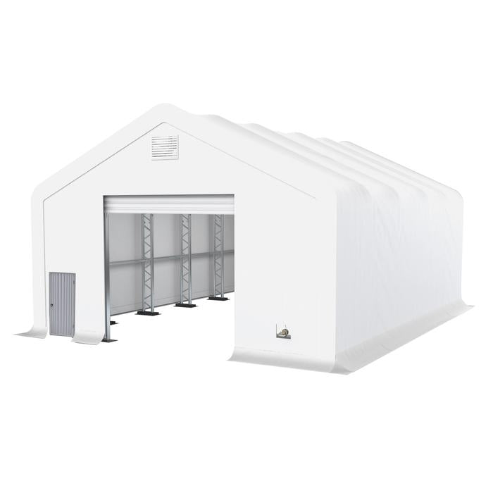 The Industrial Pro Series 30' x 40' Dual Truss 17oz PVC storage shelter