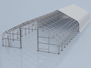 Pro Series 50' x 150' Dual Truss Storage Shelter with Heavy Duty 32oz PVC Fabric