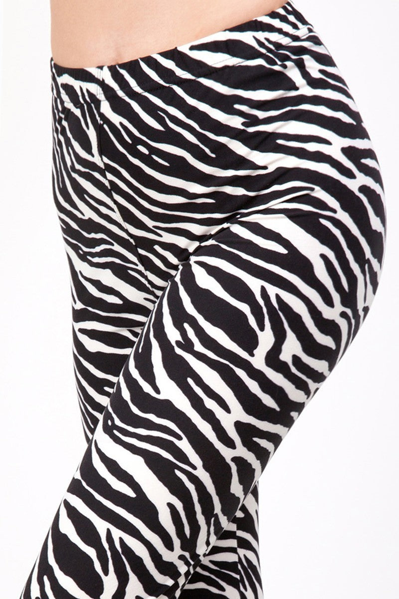 Zebra Womens best leggings BUTTERY SOFT LEGGINGS One Size Print Zebra print