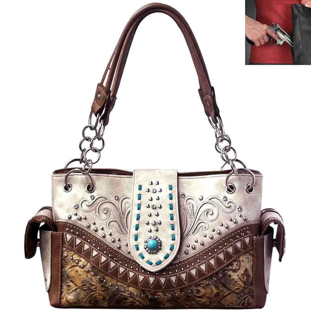 Buckle Floral Embroidery Buckle Shoulder Bag  purse handbag