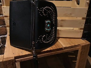 Bling Western Studded Concho Clutch/Mini Shoulder Bag Western clutch/shoulder bag  wallet Clutch Cross body bag  wallet