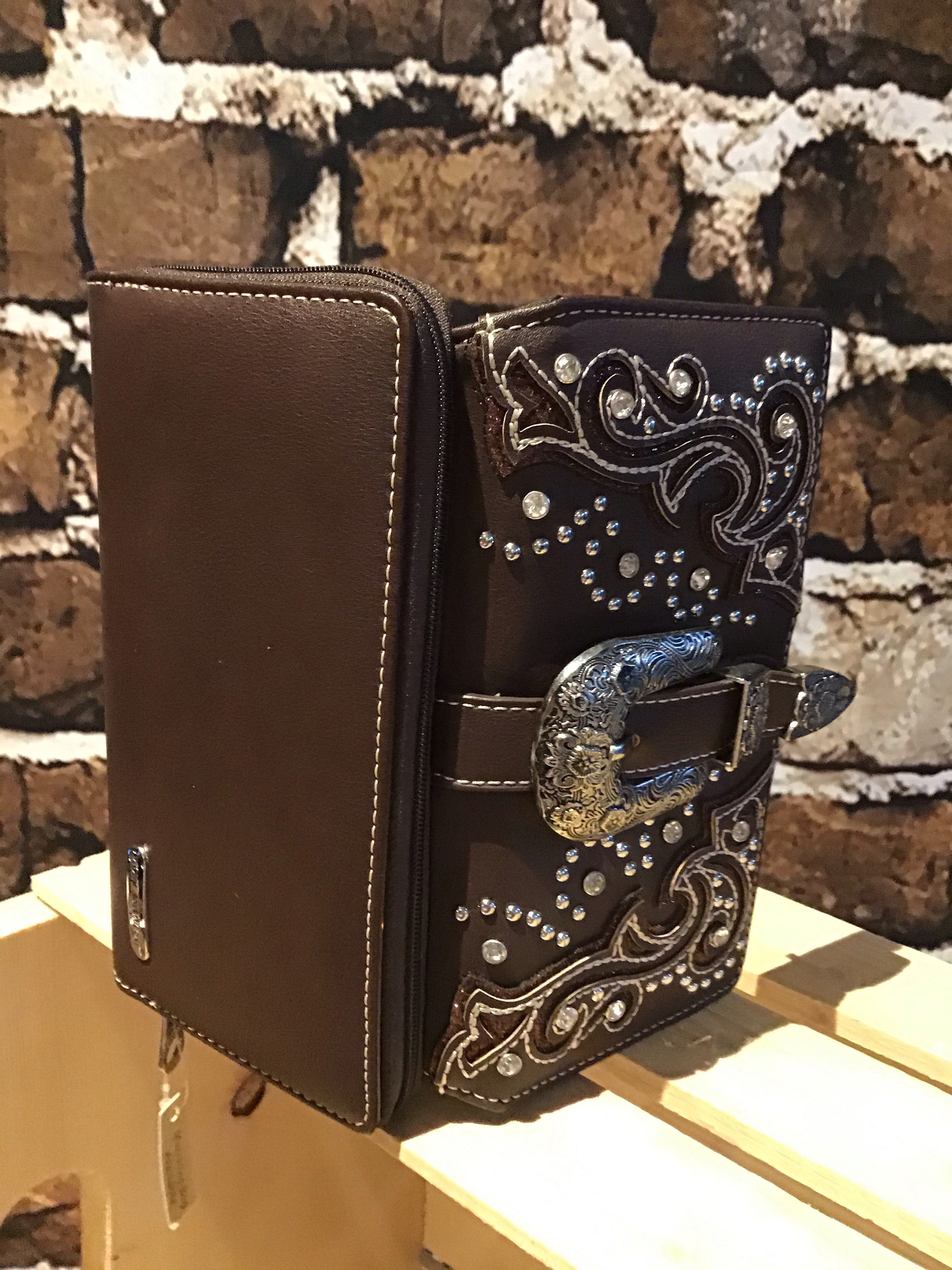 Chocolate brown Montana West Wallet Accented Secretary Style Organized Wallet