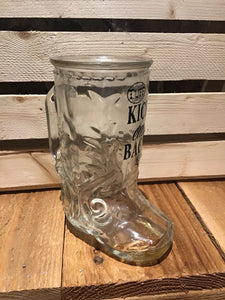 Cowgirl Tuff Kick Me Back Cowboy Boot Glass Mug