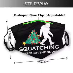 Sasquatch Christmas Bigfoot Face mask Xmas