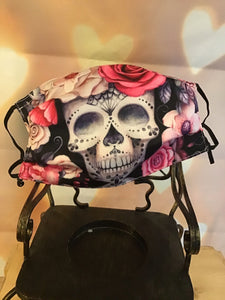 Sugar Skull Face Mask Purple pinks so nice