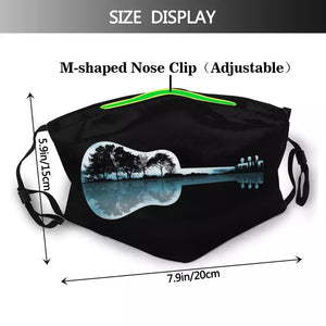Guitar Mouth Face Mask Nature Guitar Facial Mask