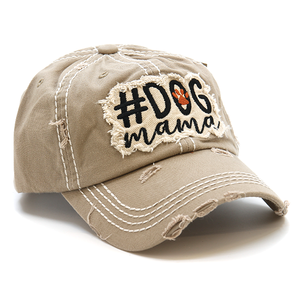 Hashtag dog mama hat brown , One left just for you grab it before it's gone