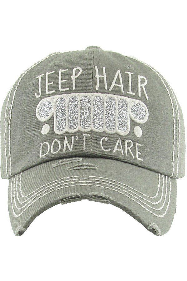 Jeep hair vintage hat adjustable size 100% cotton distressed