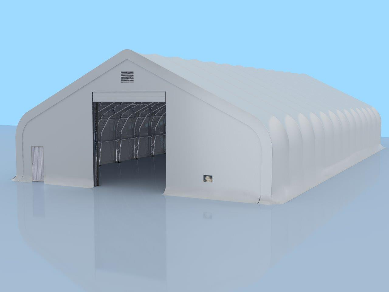 Pro Series 50' x 100' Dual Truss Storage Shelter with Heavy Duty 32oz PVC Fabric