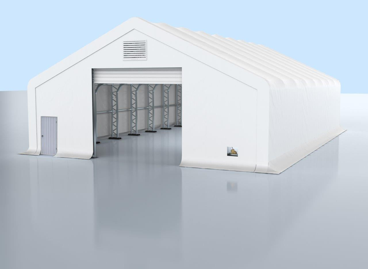 Pro Series 30' x 80' Dual Truss Storage Shelter with Heavy Duty 17oz PVC Fabric